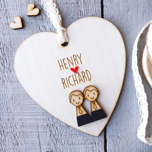Personalised Groom And Groom Wedding Heart