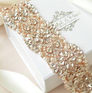 Alexa Rose Gold Bridal Sash