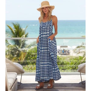 Lenu Maxi Sundress Mustique Print - dresses