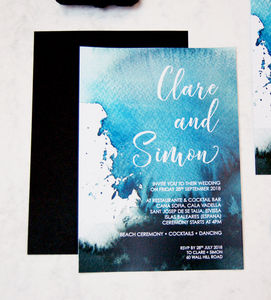 Pack Of Ink Splash Wedding Invitation - invitations