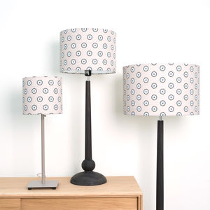 Pilchard Wheel Patterned Linen Lampshade - lighting