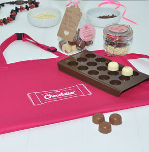 Personalised Chocolatier Kit With Apron - make your own kits