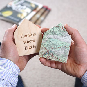 Personalised Map Location House Ornament Gift For Him