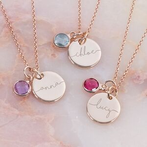Esme Personalised Initial Birthstone Necklace