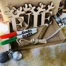 Reindeer Antler Letters Paint Y Own Letterbox Craft Kit