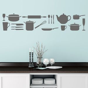 Kitchen Utensils Wall Sticker - home decorating
