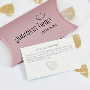 Silver Guardian Heart Keepsake - pins & brooches