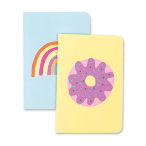 'Rainbow' And 'Donut' Notebook Duo Pack