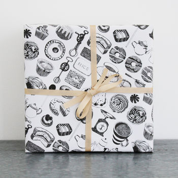 Ten Sheets Of Baking Wrapping Paper