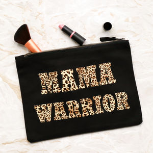 Limited Edition 'Mama Warrior' Canvas Clutch - fashion accessories