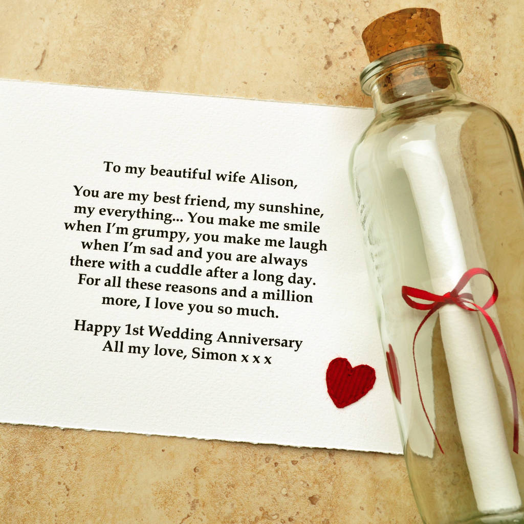 Gifts For Wedding Anniversaries: Personalised Wedding Anniversary Gift By Jenny Arnott