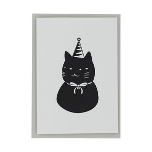 Letterpress Birthday Cat Card - birthday cards