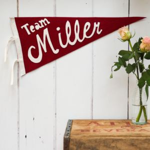 Family Name Pennant Flag