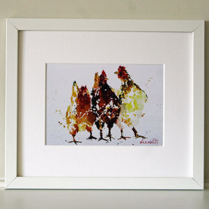 Chicken Print, Pecking Order