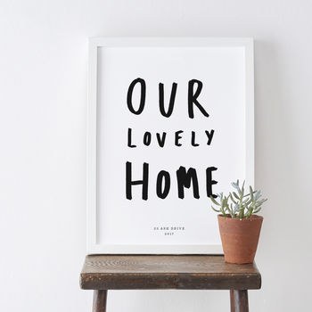 Our Home Typography Print