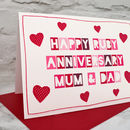 The design is great as a ruby wedding anniversary card for your partner or parents