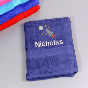 Kids Rocket Bath Towel - bathroom