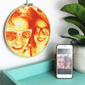 Orange Stitch A Selfie Personalised Cross Stitch Kit