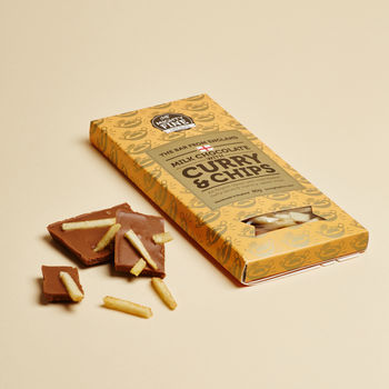 Curry And Chips Milk Chocolate Bar Gift Bundle Of Three