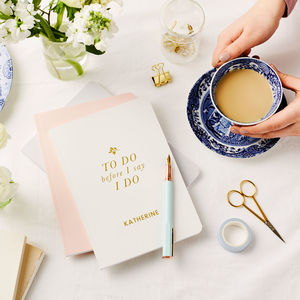Personalised Bride's To Do Foiled Notebook