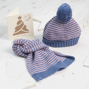 Baby Girl Bobble Hat And Scarf Set - children's accessories
