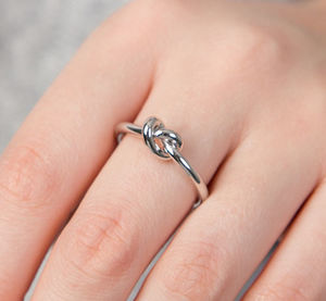 Adjustable Friendship Knot Ring