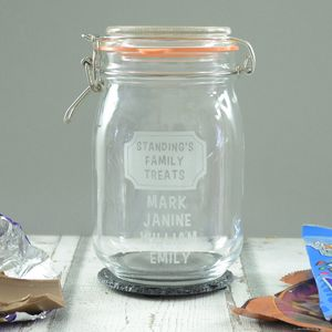 Family Personalised Large Kilner Storage Jar - tins, jars & bottles