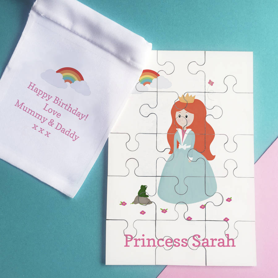 Sarah Hurley Personalised Princess Jigsaw Puzzle