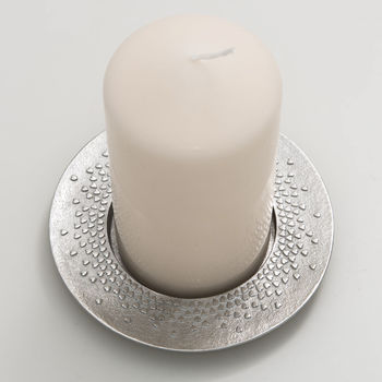 Floating Hearts Pillar Candle Holder