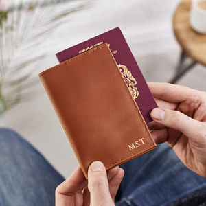 Leather Passport Cover - monogrammed gifts