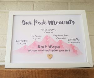 Peak Moments Personalised Watercolour Mountain Print