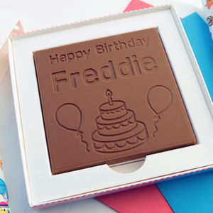 Personalised 'Happy Birthday' Chocolate Card - novelty chocolates