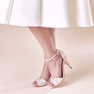 Wedding Sandal Blush Ivory Darcie - shoes