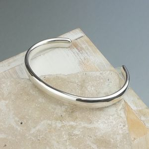 Mens' Curved Solid Silver Open Cuff Bracelet - what's new