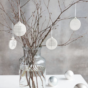 Set Of Four Monochrome Tree Decorations - view all decorations