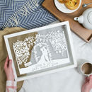 Personalised Silhouette Wedding Papercut