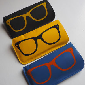Soft Leather Sunglasses Case