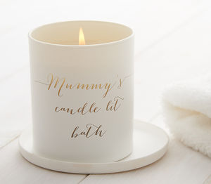 Personalised Glow Through Candlelit Bath Candle - gifts for mothers