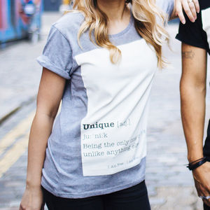 'Unique' Women's Slogan T Shirt - tops & t-shirts