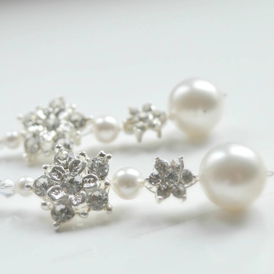 Pearl And Diamante Earrings Collection