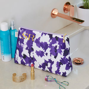 Personalised Violet Storm 'Weekend Away' Wash Bag