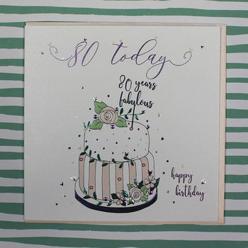 Eightieth Birthday Card Luxury