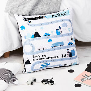 Children's Personalised Adventure Large Floor Cushion