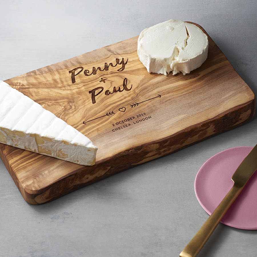 Wedding Gift Ideas Uk: Personalised Wedding Cheese Board By The Rustic Dish
