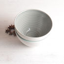 Tactile Coloured Porcelain Bowl