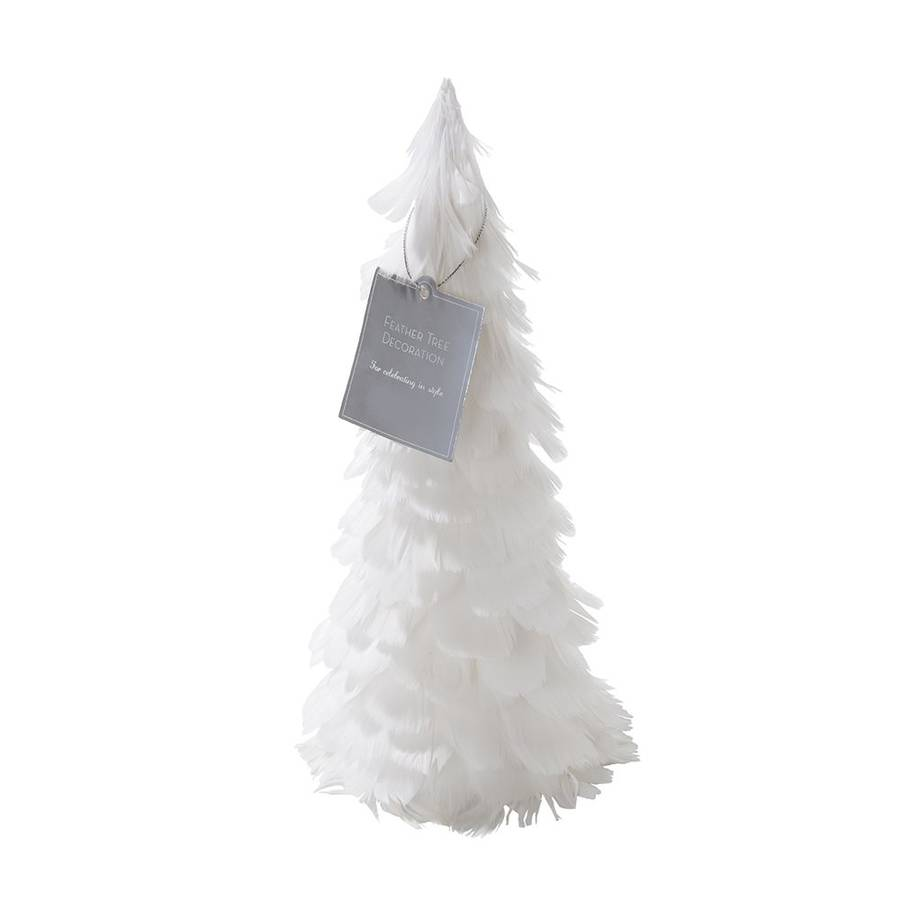white feather tree table decoration by bunting & barrow ...