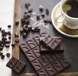 Dark Coffee Bean 70% Dark Chocolate Bar - coffee lovers