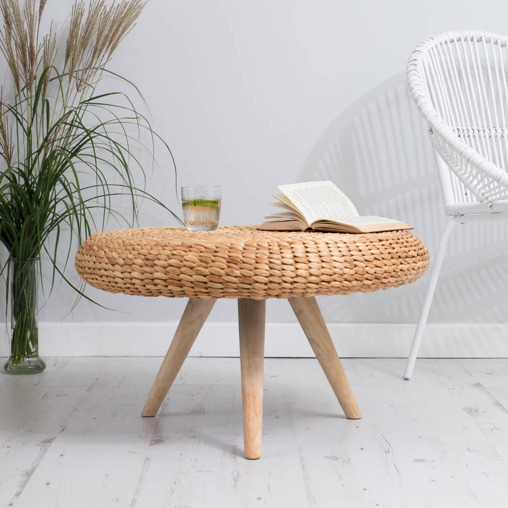 Natural Wood Coffee Table Round By Za Za Homes