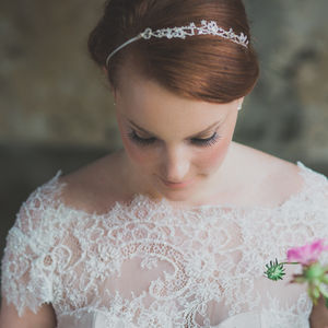 Florrie Lace Beaded Crystal Headband Choose Your Colour - wedding fashion