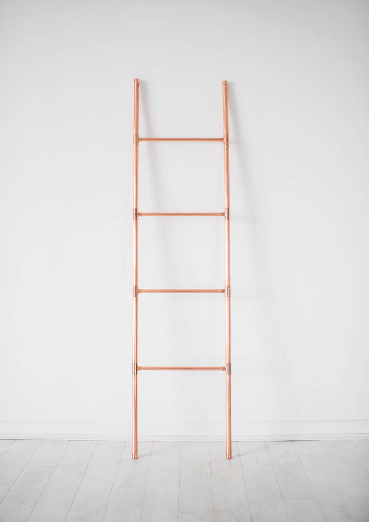 Copper Pipe Blanket And Towel Display Ladder By Little